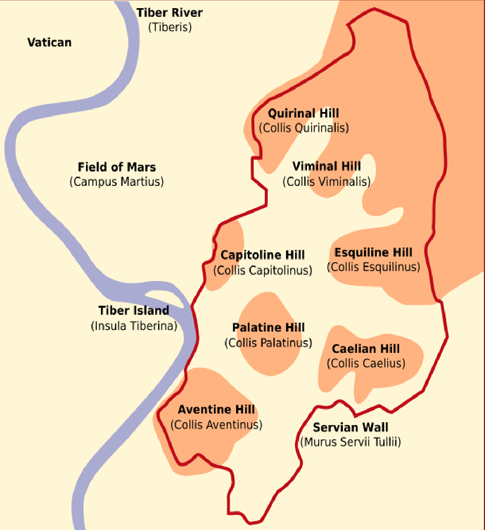 the-seven-hills-of-rome-map