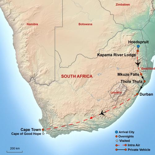 South Africa Map 2019